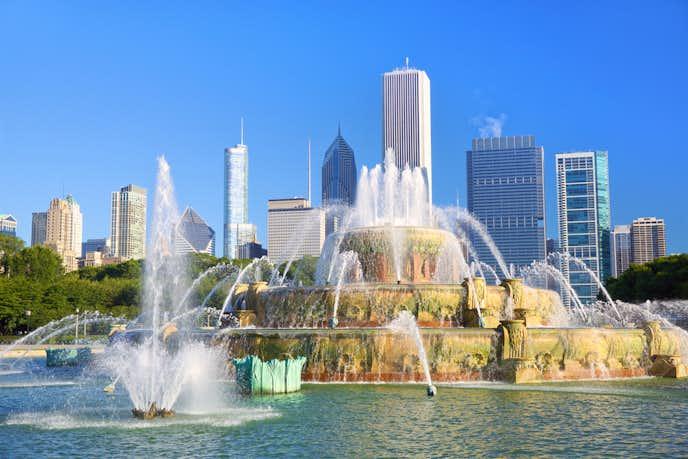シカゴの観光スポットのバッキンガム噴水
