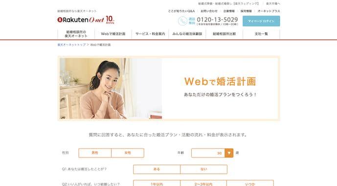 京都府でおすすめの結婚相談所サービスは楽天オーネット