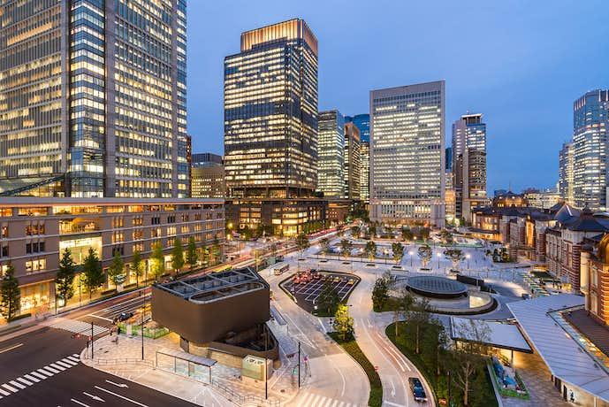 夜景が綺麗な東京駅