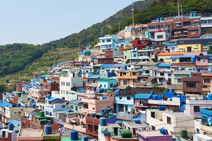 釜山のおすすめ観光地『甘川洞文化村 (カムチョンドンムナマウル)』の風景