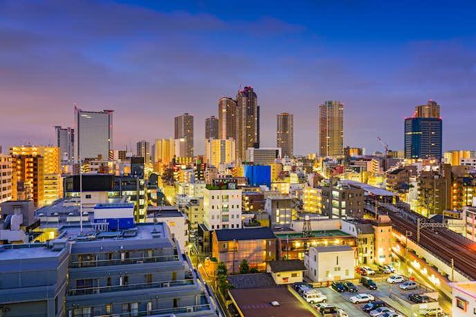 川崎の綺麗な夜景