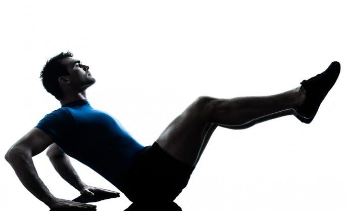 腹筋の効果的なトレーニングメニュー「ニートゥチェスト」