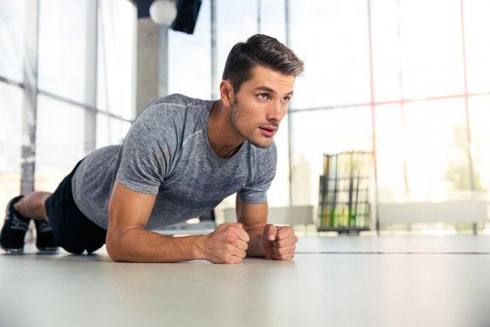 加圧シャツの効果を高める腹筋トレーニング「フロントブリッジ」