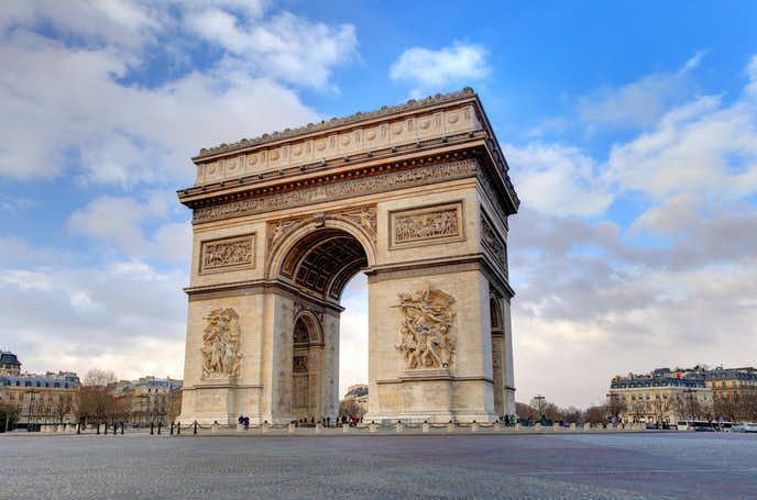 パリのおすすめの観光スポットに凱旋門