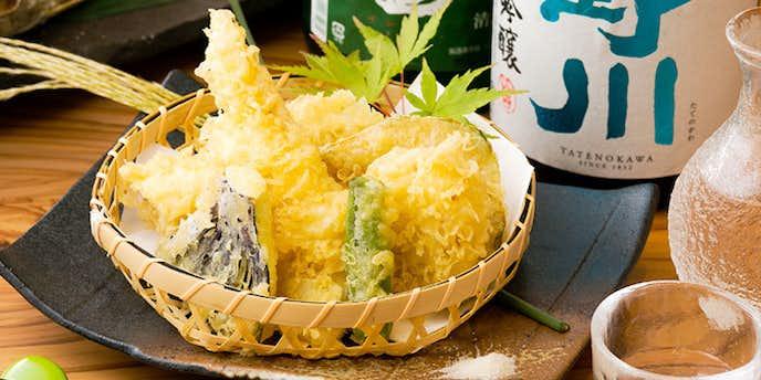 八寸の天ぷらランチ