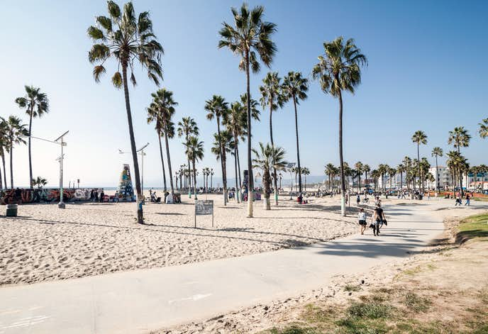 ロサンゼルスのおすすめ観光スポット「ベニスビーチ」