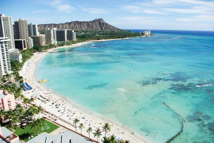 ハワイのおすすめ観光スポット「ワイキキビーチ」