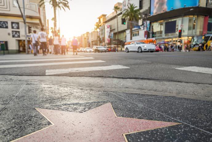 ロサンゼルスのおすすめ観光スポット「ハリウッド・ウォーク・オブ・フェイム」