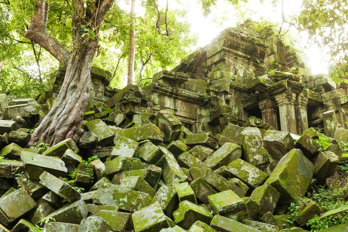 カンボジアでおすすめの観光地はベンメリア遺跡