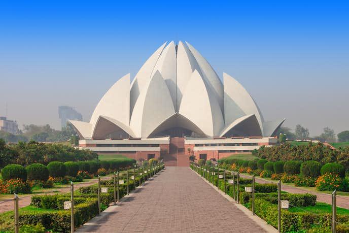 インドでおすすめの観光地はロータス寺院