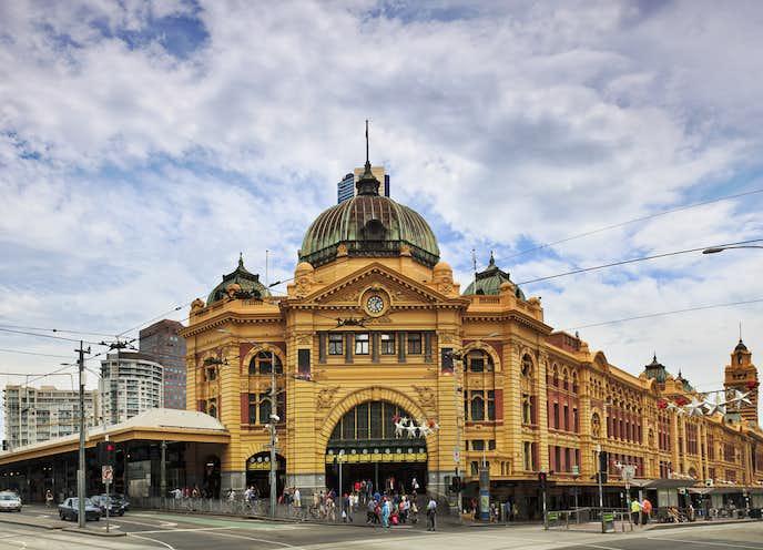 メルボルンでおすすめの観光地はフリンダ―ストリート駅