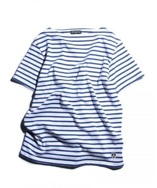 オーシバル_ボーダーTシャツ