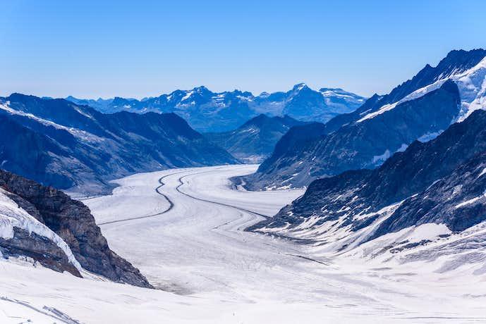 スイスでおすすめの観光地はアレッチ氷河