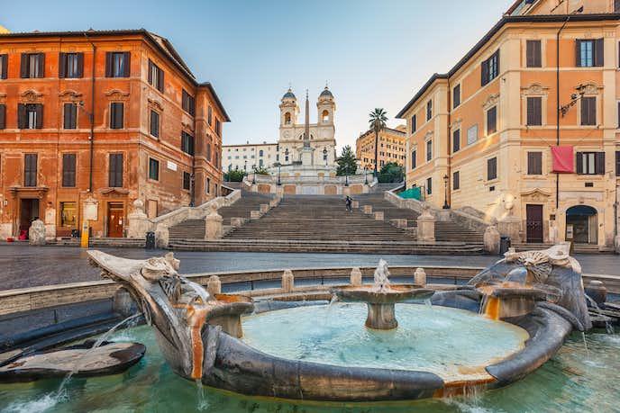 ローマでおすすめの観光地はスペイン広場