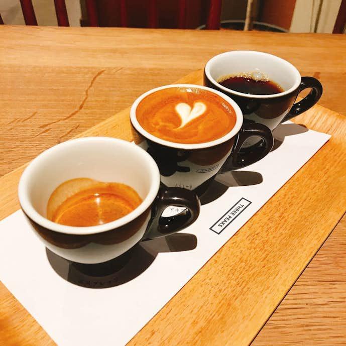 COFFEE VALLEYのおすすめメニューはTHREE PEAKS