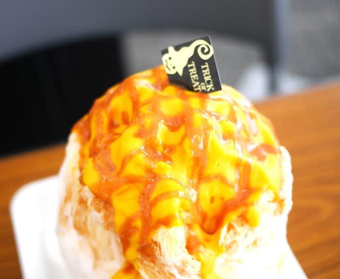 雪うさぎのかぼちゃキャラメル味のかき氷