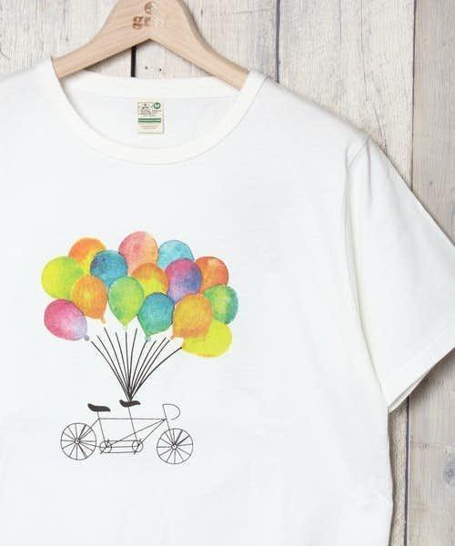 カラフルなワンポイントが可愛い柄Tシャツ