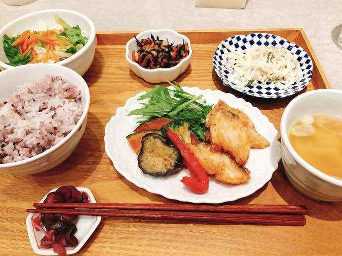ゆとりの空間 横浜ベイクォーター店の食事