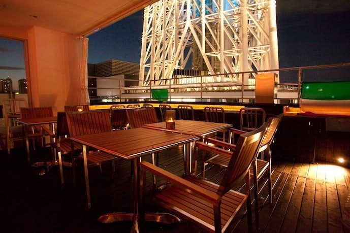 スカイツリーのおすすめデートスポットはpiccole lampare&rooftop Sky Bar