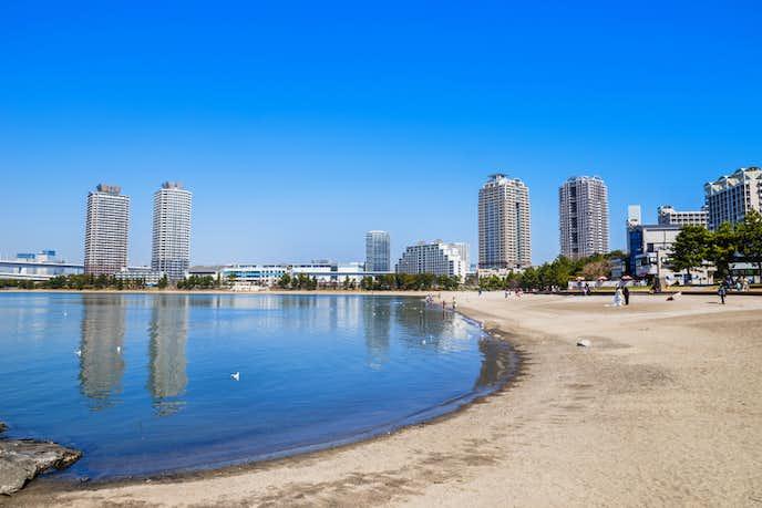 お台場でおすすめの観光地はお台場海浜公園