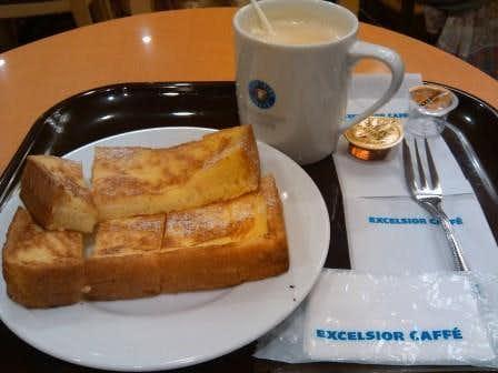 エクセルシオールカフェのおすすめメニューは厚切りフレンチトースト