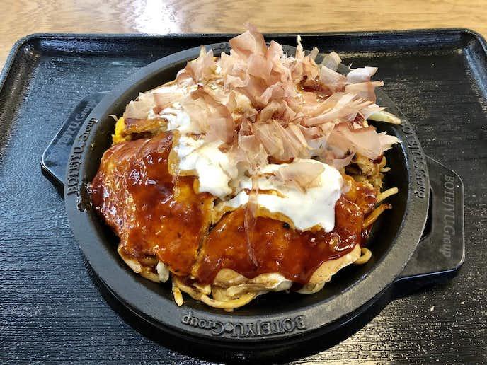 ぼてぢゅう屋台のおすすめメニューはぼてぢゅう 大阪モダン焼き