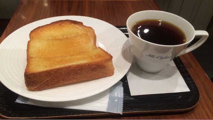 ミカフェートのおすすめメニューはバタートーストセット