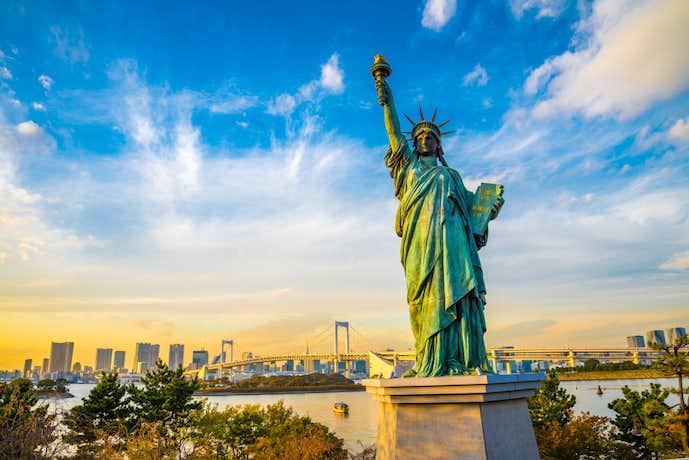 お台場でおすすめの観光地は自由の女神像