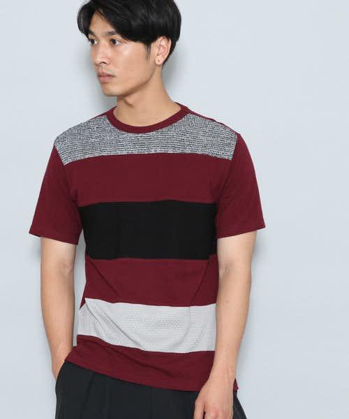 JUNRedのボーダーニットTシャツ