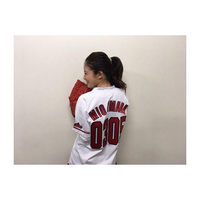 今田美桜_野球