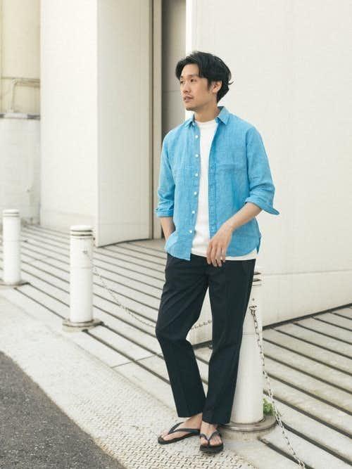 30代男性のおすすめコーデはリネンシャツ