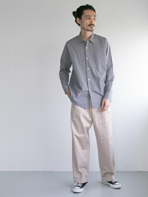 30代のおすすめコーデはギンガムチェックシャツ