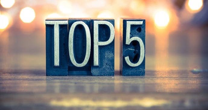 テレビの人気ランキングTOP5