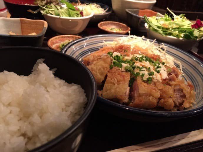 渋谷 ランチ 銀座ほんじん チキン南蛮定食