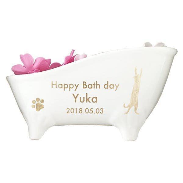 女友達への誕生日プレゼントは陶器付き入浴剤 SAKURA