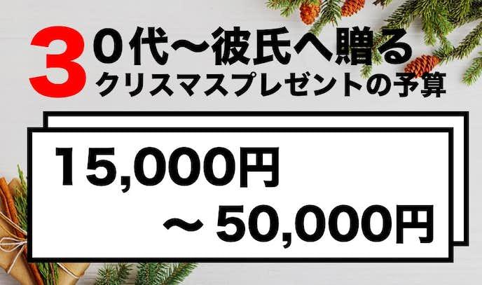 30代、40代の彼氏へ贈るクリスマスプレゼントの予算