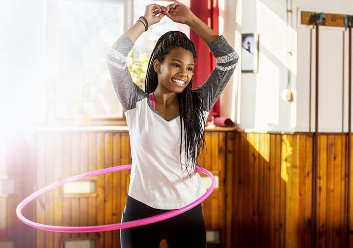 フラフープの効果:自宅でも手軽に運動ができる