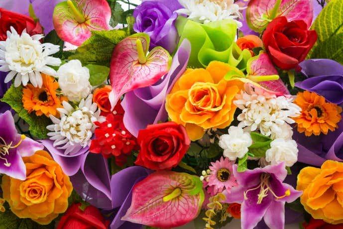 結婚祝いのプレゼントに花
