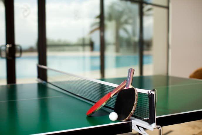 雨の日に卓球デート