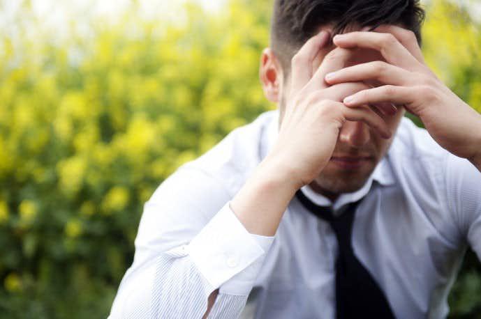 30代サラリーマンに多い抜け毛原因であるストレス