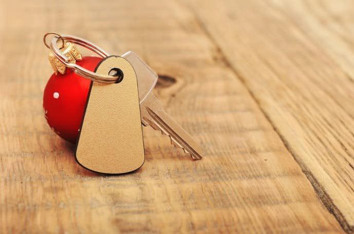 クリスマスに合鍵とキーホルダーをプレゼント