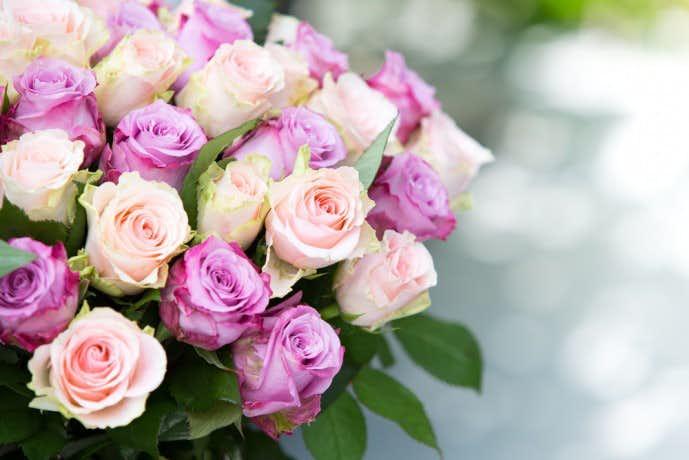 花束の写真を撮って保存しておく
