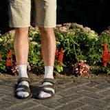 サンダル×靴下のスポーツミックス