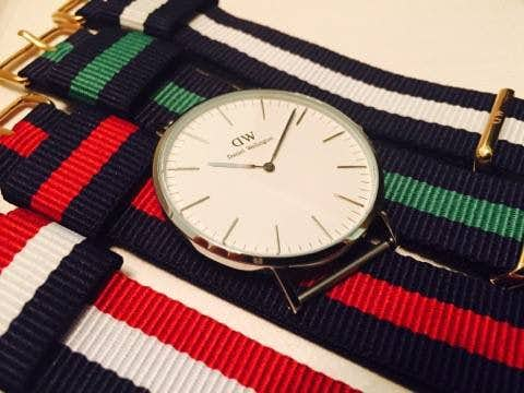 ダニエルウェリントンの時計は数種類のバンドと取替可能