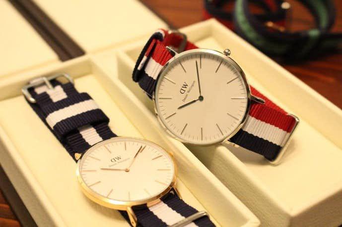 ペアウォッチが人気の秘密のダニエルウェリントンの時計
