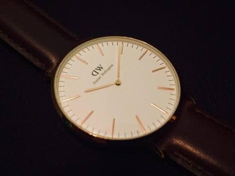 ダニエルウェリントンの時計の文字盤