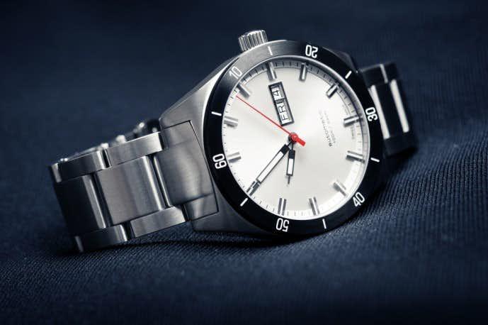 ポール・スミスのステンレス腕時計