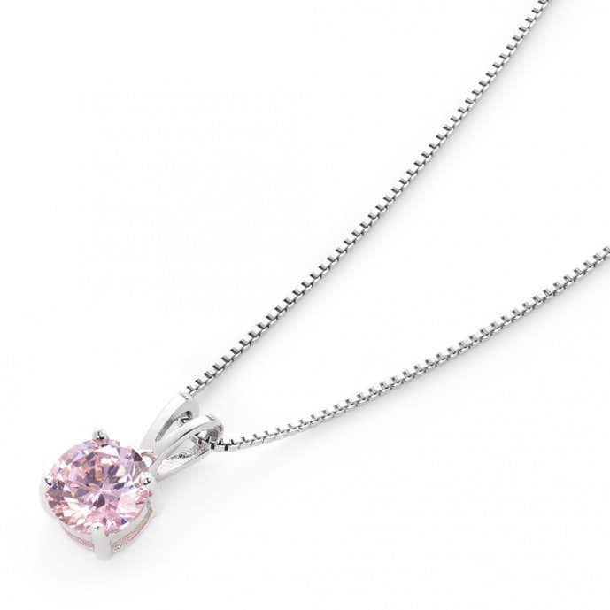 eac8568ceb おすすめのネックレス② czピンクダイヤモンド ネックレス. 母の日のアクセサリー ...